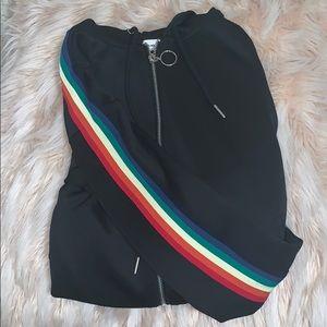 Sunset+Spring rainbow arm sweatshirt